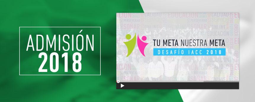 "Desafío IACC 2018:  ""Tu Meta es Nuestra Meta"" - Instituto Profesional IACC"